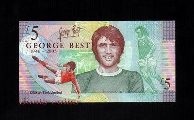 【Louis Coins】B065-NORTHERN IRELAND-2006北愛爾蘭紀念紙鈔.George Best