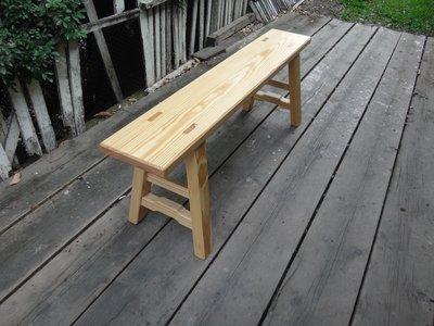 B033{崙頂傳統原木家具行}~杉木長板凳9.5吋寬原木色 叫寬 接受訂做 訂色 有現貨