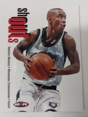 1998-99 Hoops Shout Outs #17 Stephon Marbury