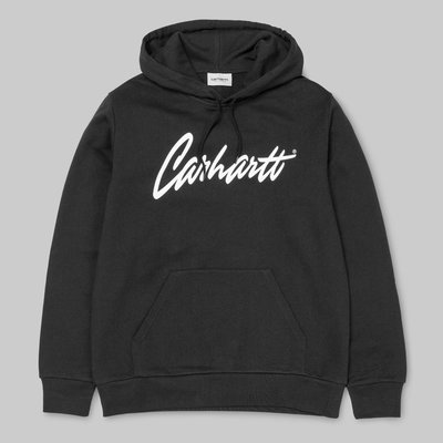 【Shopa】現貨 特價 Carhartt WIP Hooded Stray Sweat 草寫 logo 帽T 黑