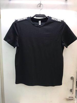 Moschino underwear 黑白藍三色 素面 緞帶Logo 圓領T恤 全新正品 男裝 歐洲精品