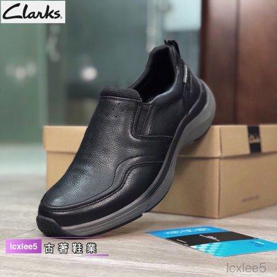 Clarks克拉克男鞋 輕質舒適軟底牛皮商務休閒皮鞋 一腳蹬懶人樂福鞋39-44