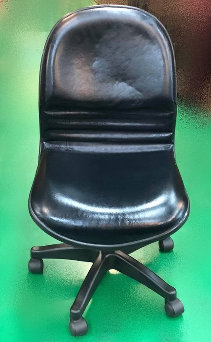 【宏品二手家具館】辦公傢俱賣場 F81322*黑皮OA椅* 中古辦公桌/椅 OA洽談桌椅 書桌椅 中古大學椅 補習班桌椅