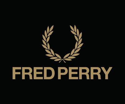 Fred Perry 桂冠刺繡 LOGO 橫幅 黑底金字 3m防水貼紙 尺寸120x30mm