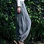 竹之風韻♥褲子【設計師原創 棉麻復古闊腿褲 大燈籠長褲寬鬆打坐褲】