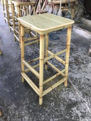 竹製高腳竹椅(吧台竹椅)