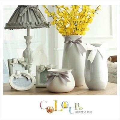【大】辛蒂瑞拉系列花器花瓶 家居陶瓷擺設擺件 (直徑16.5x高31x瓶頸直徑10cm) ※COLOUR歐洲生活家居※