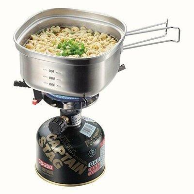 可刷卡 日本製 日本鹿牌CAPTAIN STAG 1.3L 燕三条 不鏽鋼湯鍋 泡麵鍋 方形鍋 UH-4202 露營鍋 uh4202 野外炊煮