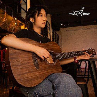 吉他guitarist單板民謠吉他男女生40 41寸初學者網紅同款新手入門樂器