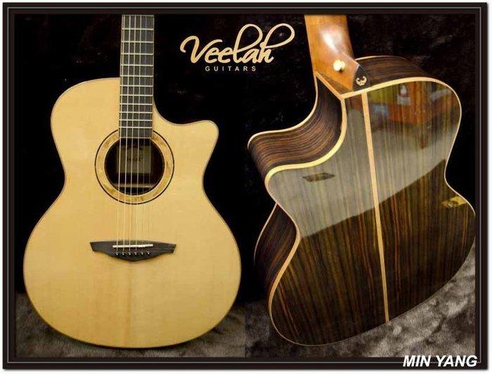 *民揚樂器*/ Veelah V5-GACE 面單 雲杉木 電木吉他 /GSP優良樂器商
