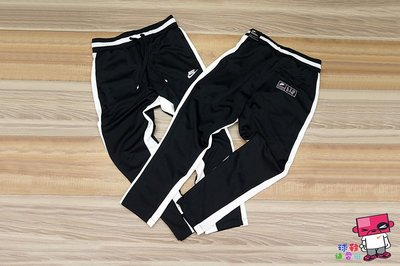 球鞋補習班 NIKE NSW AIR PANT 黑白 運動褲 針織滑面 拼接 抽繩 LOGO AR1832-010