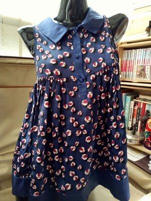GUCCI海灘球印花絲質長版衣洋裝純蠶絲