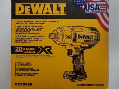 美國 DEWALT得偉 DCF899 4分 C型環 摩擦環 18V 20V 無刷馬達 衝擊板手 套餐賣場1機1電1充