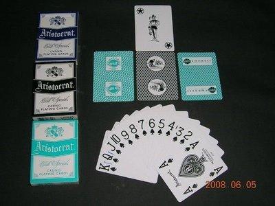 【USPCC撲克牌】HARRAHS STAR ARISTO 水藍撲克牌