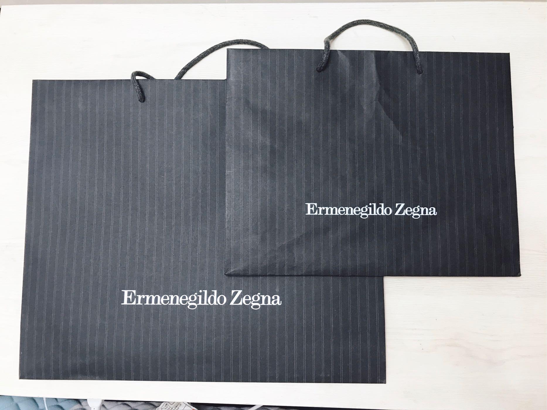 《Ermenegildo Zegna》專櫃紙袋