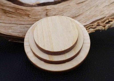 DIY 模型材料 圓木板 圓木片 松木  5cm 烙畫 烙畫木板 小木片 掛牌  厚5MM