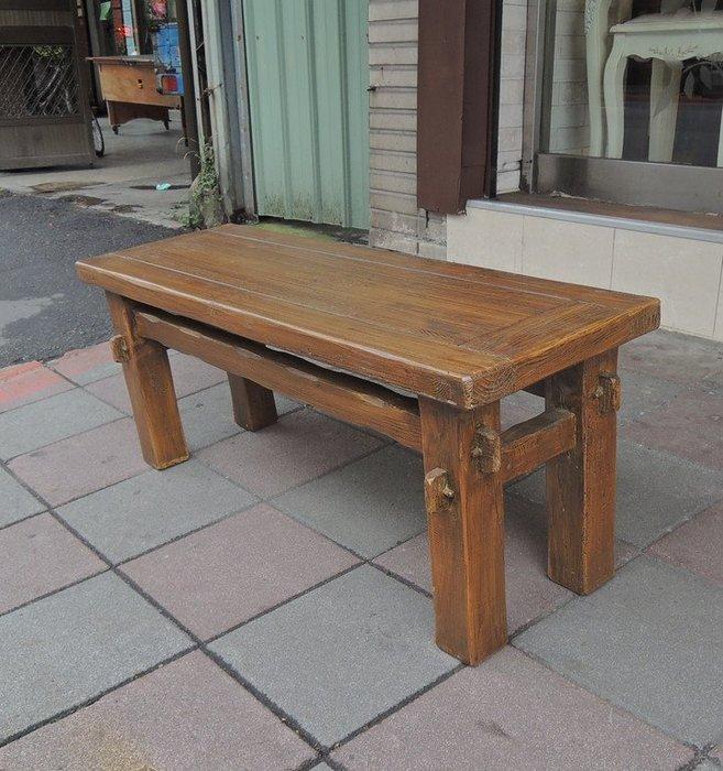 古趣實木長方椅凳 厚實長板凳子 造型古趣 邊桌、邊几、花台、休閒椅凳 皆宜