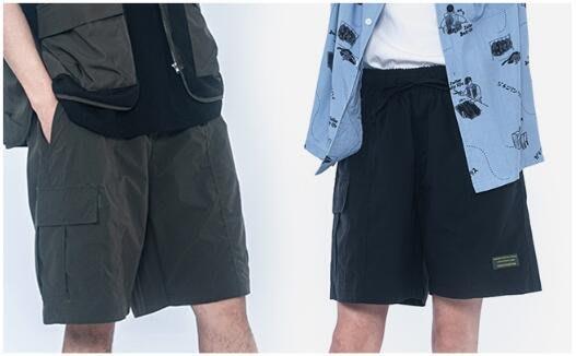 FINDSENSE X 時尚街頭流行 薄款夏天 休閒工裝短褲 多口袋 短褲多袋機能速幹運動男式短褲