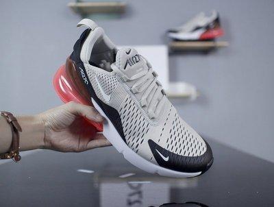 D-BOX Nike Air Max 270 灰黑 玫紅 透氣網面 半氣墊 慢跑鞋 男運動鞋