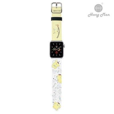 [正版]三麗鷗系列 Apple Watch 皮革錶帶 布丁狗 (銀)