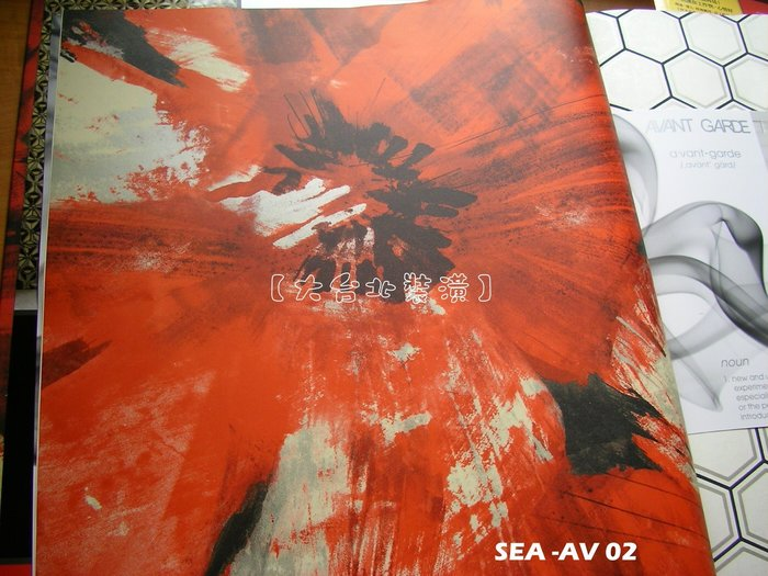 【大台北裝潢】美國Seabrook進口壁紙AV* Curie 藝術大花朵(4色)