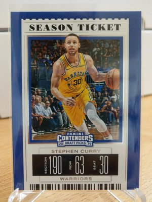 Stephen Curry 2019-20 contenders draft picks Season Ticket 1