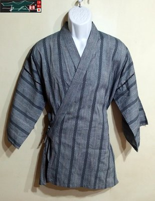 【J&K嚴選】日本 上布 甚平 浴衣 男款-日本灰紋雲-L號-一點(僅售上衣)【特價】LV來自星星的你