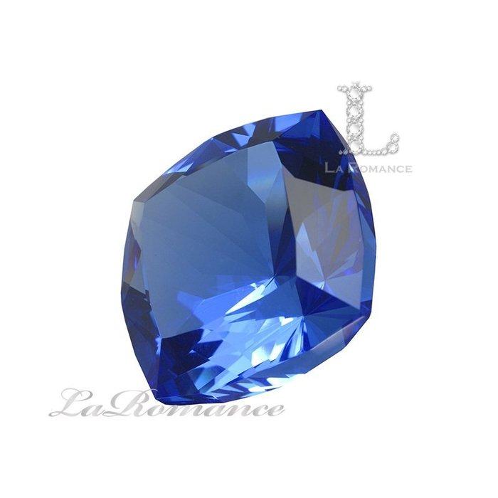 【芮洛蔓 La Romance】璀璨方型水晶鑽 – 寶藍色 / 富饒 / 虔誠 / 增強勇氣與智慧