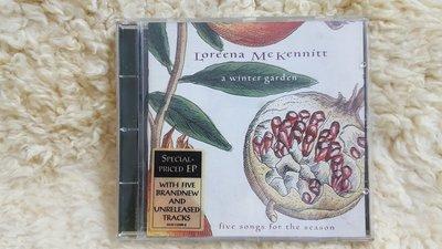 賣場罕見 絕版Loreena MCKennitt a winter garden 精選輯 專輯CD