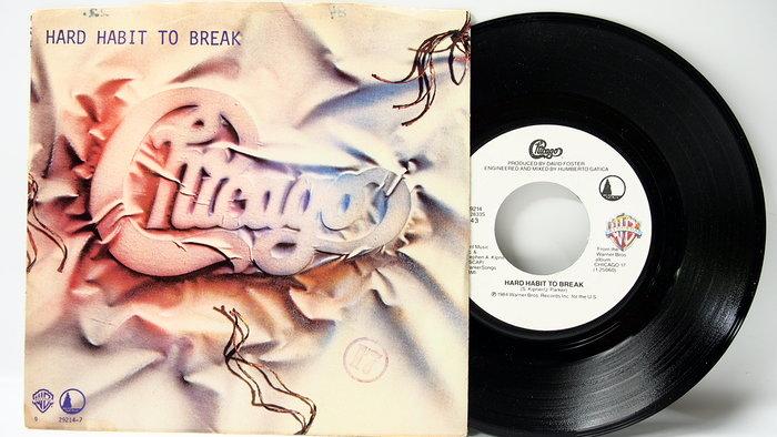 45 rpm 7吋單曲 Chicago 【Hard Habbit to Break】1984美國 Warner首版