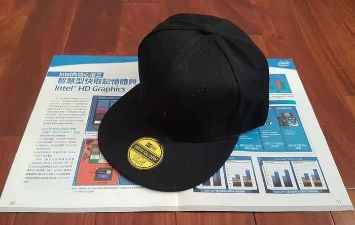 ☆艾力客生活工坊☆CI-135 素色 本色調基本款 鴨舌帽 棒球帽 街舞 鬼步舞 韓國明星同款(10色)帽檐平款-黑色