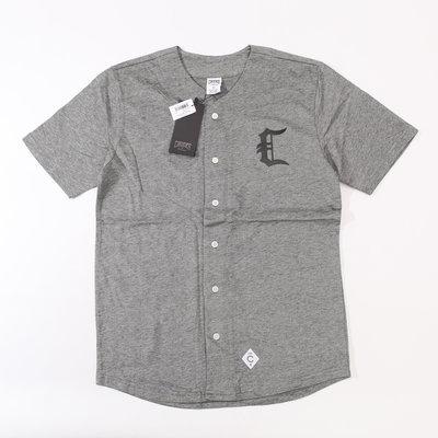 Cover Taiwan 官方直營 Crooks & Castles 棒球衫 棒球衣 嘻哈 滑板 西岸 灰色 (預購)