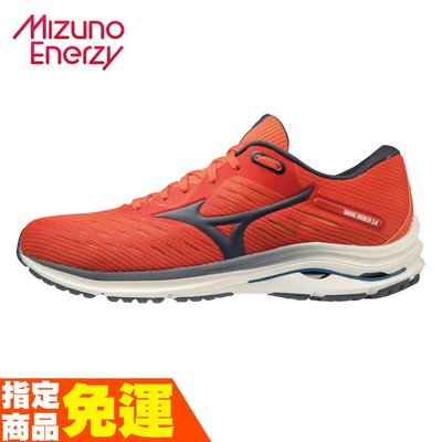 MIZUNO WAVE RIDER 24 一般楦 男款一般型慢跑鞋 紅黑 J1GC200330 贈腿套 20SS