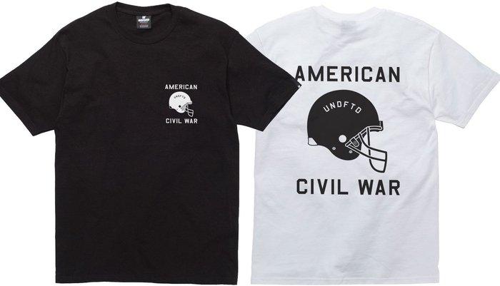 【超搶手】】全新正品 最新款 UNDEFEATED CIVIL WAR TEE 美式足球 黑 白 灰 S M L XL