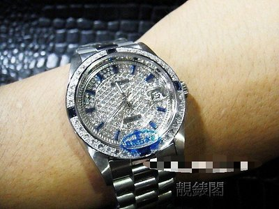 【靚錶閣】滿天星蠔仕白鋼機械錶‧非ROLEX 勞力士