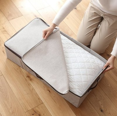 『格倫雅』懶角落 可水洗床底收納箱 家用防水防裝衣服棉被子整理袋 65707^19683