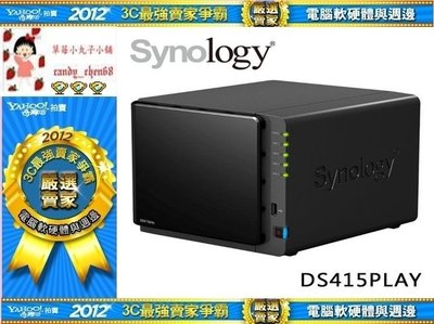 【35年連鎖老店】Synology DiskStation DS415 Play網路NAS有發票/ 2年保固/  台北市