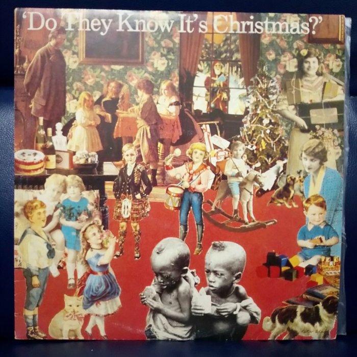 ~花羨好物~英國歌壇37位歌手為援助非洲飢荒難民空前合唱單曲(他們知道聖誕節來臨嗎)1984年荷版黑膠唱片 45轉一19A