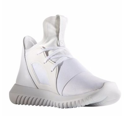 Adidas TUBULAR DEFIANT S75187 全白武士忍者鞋 運動鞋 休閒鞋US7號