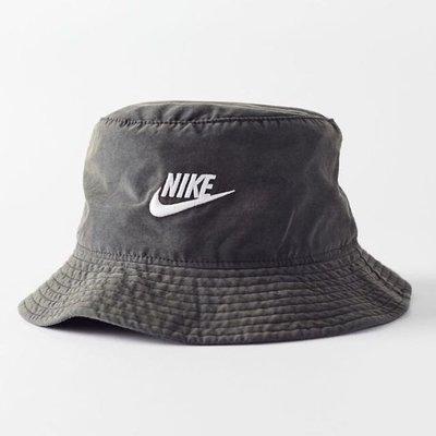 R'代購 Nike Bucket Hat 水洗褪色 灰黑 漁夫帽 男女