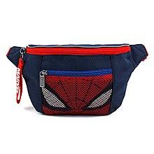 ♀高麗妹♀韓國 MARVEL SPIDER MAN 復仇者聯盟 漫威 蜘蛛人 前有網格拉鍊收納袋兒童腰包(預購)