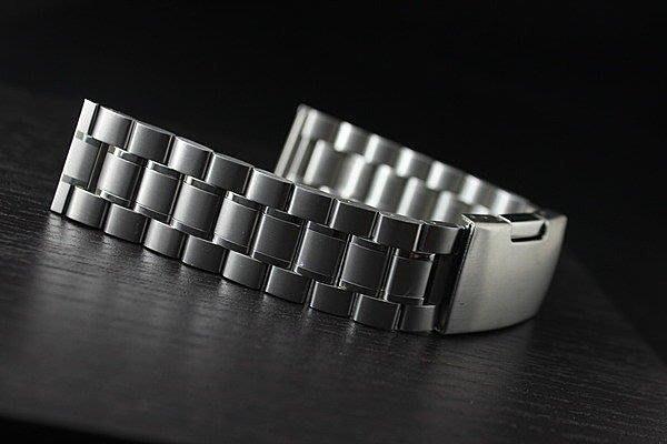 20mm,22mm sea master海馬風格平頭不鏽鋼製實心錶帶不鏽鋼單折扣speed mast