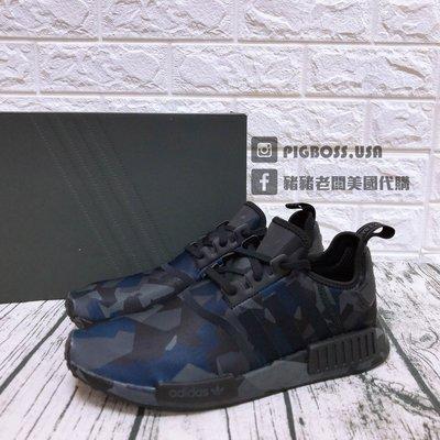 【豬豬老闆】 ADIDAS ORIGINALS NMD_R1 黑 迷彩 幾何 休閒 慢跑鞋 男鞋 EF4263