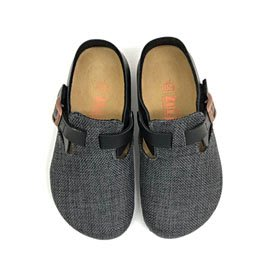 【ZULIBA個性款】中童足跡雙配色包鞋(17~23)-灰織布