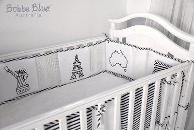 ♫♥Yo媽‧嚴選♥♫ 澳洲BubbaBlue 透氣防撞床圍 小小世界