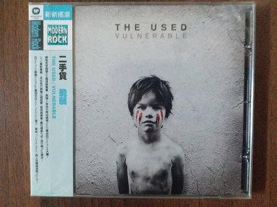 [永恆音樂網]全新二手貨樂團-脆弱專輯-THE USED-VULNERABLE(限量絕版品)(稀有品)