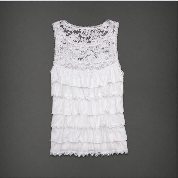 (BJGO) Abercrombie & Fitch_A&F_JOHANNA TANK 典雅蕾絲多層次背心上衣 新品現貨