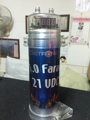 美國 DIETRO NICS 1.0 FARAD 法拉 電容 1.0F數字電容器