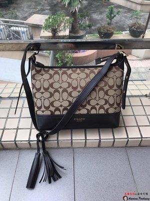 美國大媽代購 COACH 寇馳 25664 熱賣新款流蘇帆布包 款式3  斜背包 美國代購
