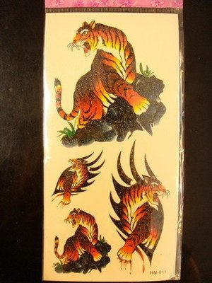 新款紋身貼紙 彩繪 紋身 刺青 傳統虎圖 龍圖  死神~鬼頭~歐美骷髏頭 省錢 紋身 刺青TATTOO
